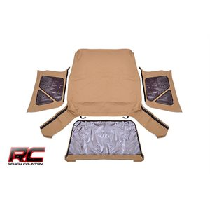 RC JEEP TJ (FULL STEEL DOORS) REPLACEMENT SOFT TOP / SPICE