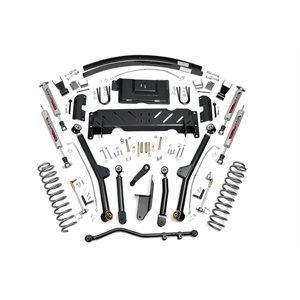 "JEEP XJ 84-01 4.5"" LONG ARM LIFT KIT W / 2.8 V6 / NP231 / ADD-A-LEAFS"