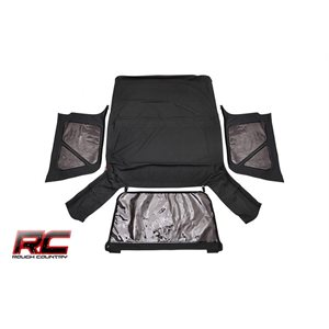RC JEEP TJ (FULL STEEL DOORS) REPLACEMENT SOFT TOP / BLACK
